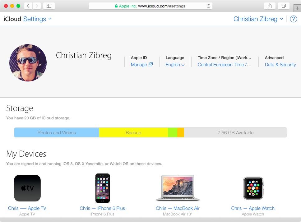 iCloud remove Apple Watch web screenshot 001