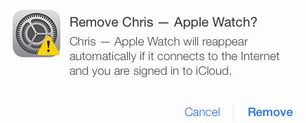 iCloud remove Apple Watch web screenshot 003