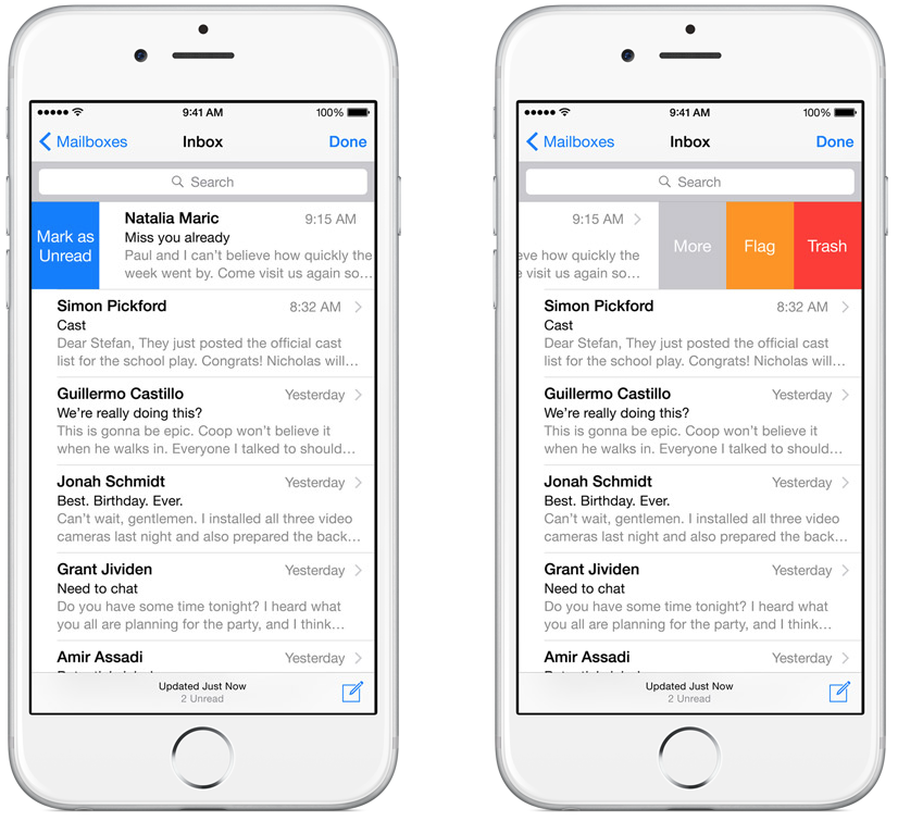 how to delete an email in iphone 6