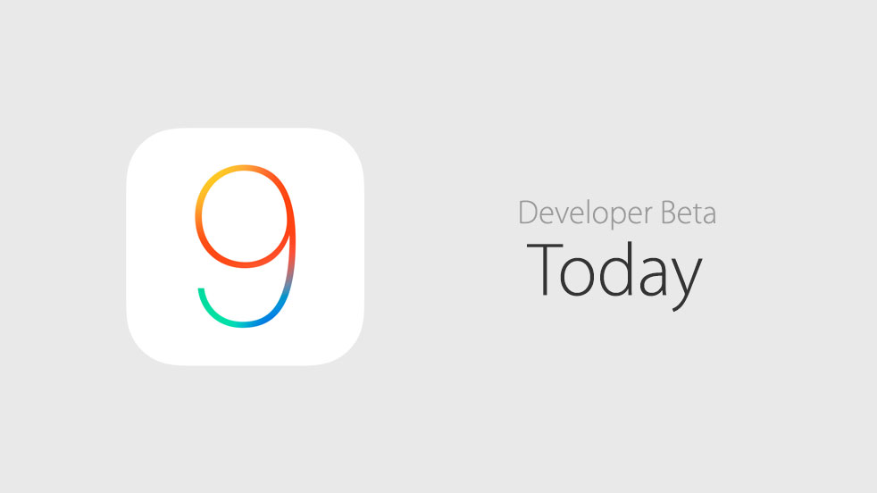 iOS 9 beta today