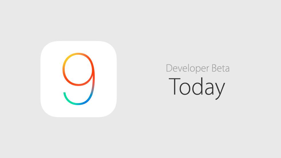 iOS 9 beta today