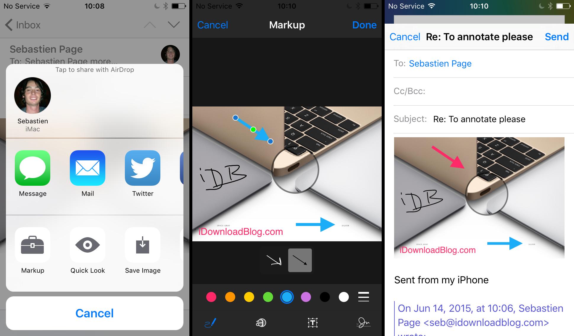 iOS 9 marup annotate