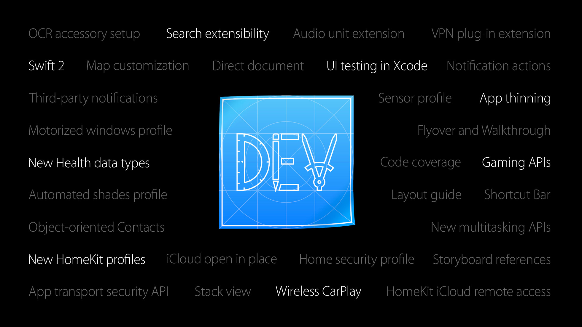 new iOS 9 dev features
