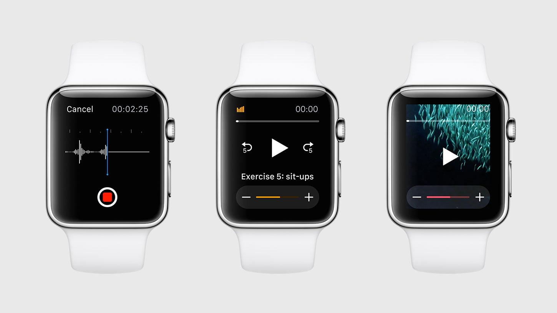 watchOS 2 speaker output