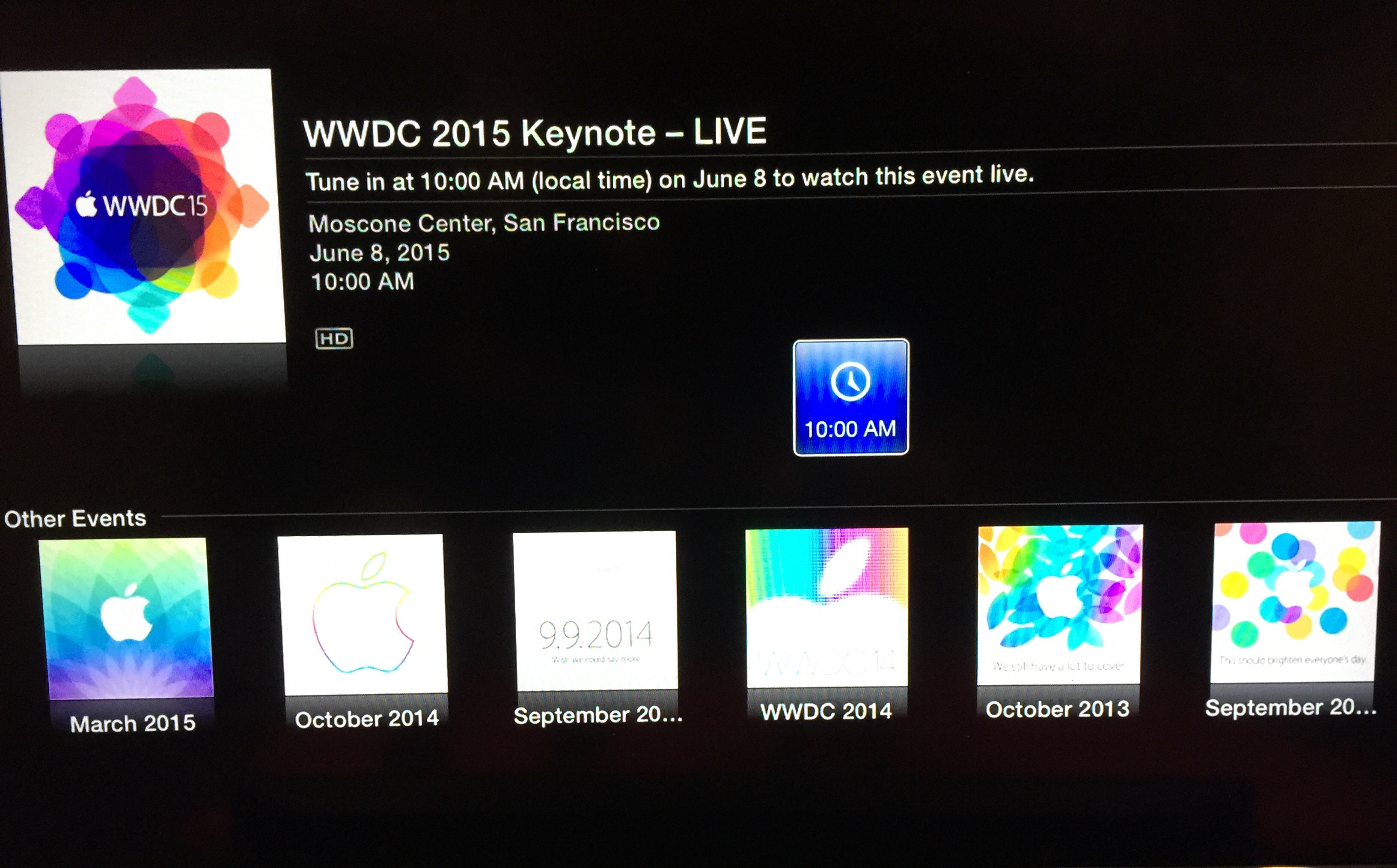 wwdc 15 apple tv