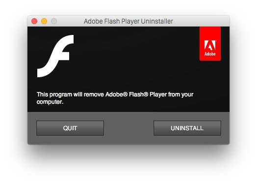 Adobe Flash Player Uninstaller Mac screenshot 001
