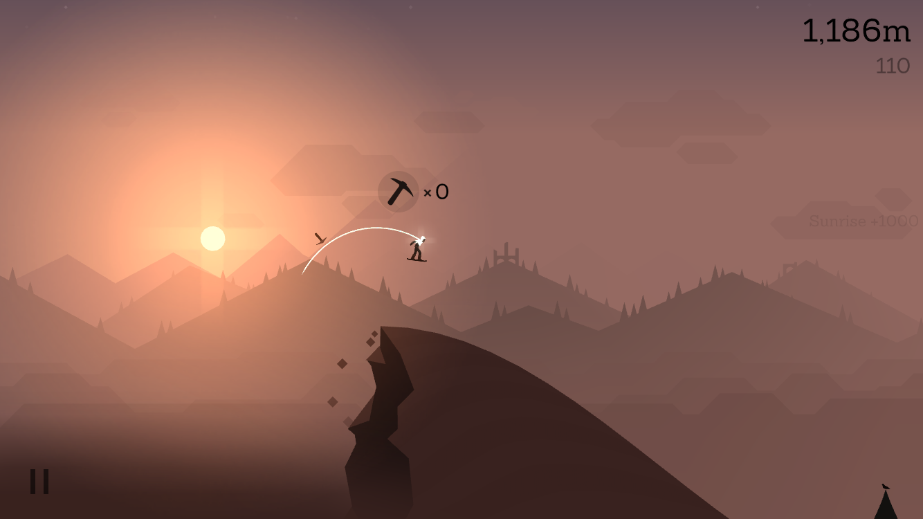 Alto's Adventure 1.1 for iOS chasm rescue iPhone screenshot 001