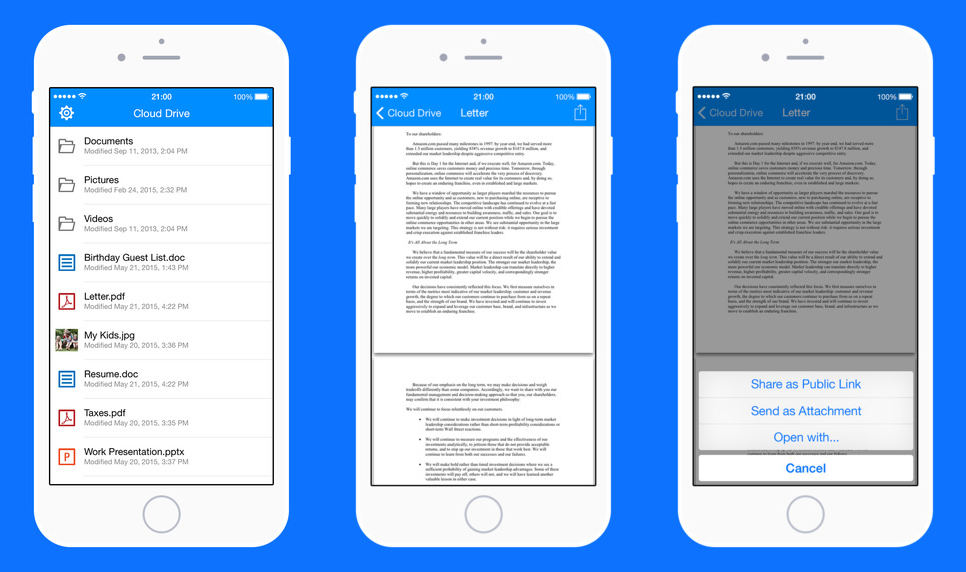 Amazon Cloud Drive 1.0 for iOS iPhone screenshot 001