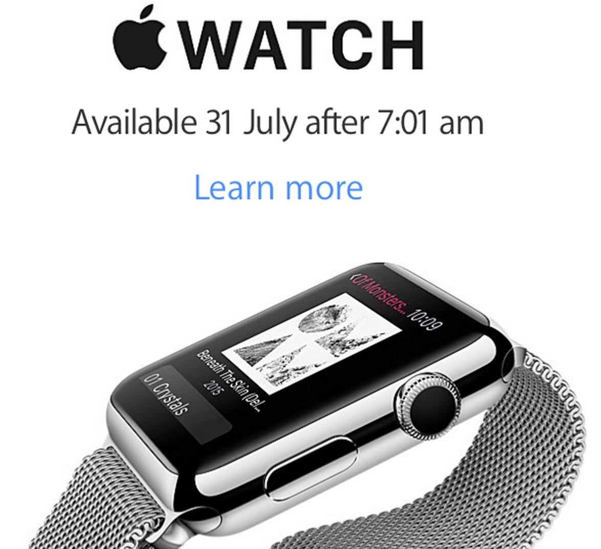 Apple Watch New Zealand July 31