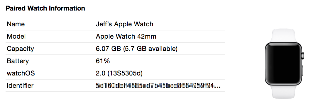 Apple Watch UDID