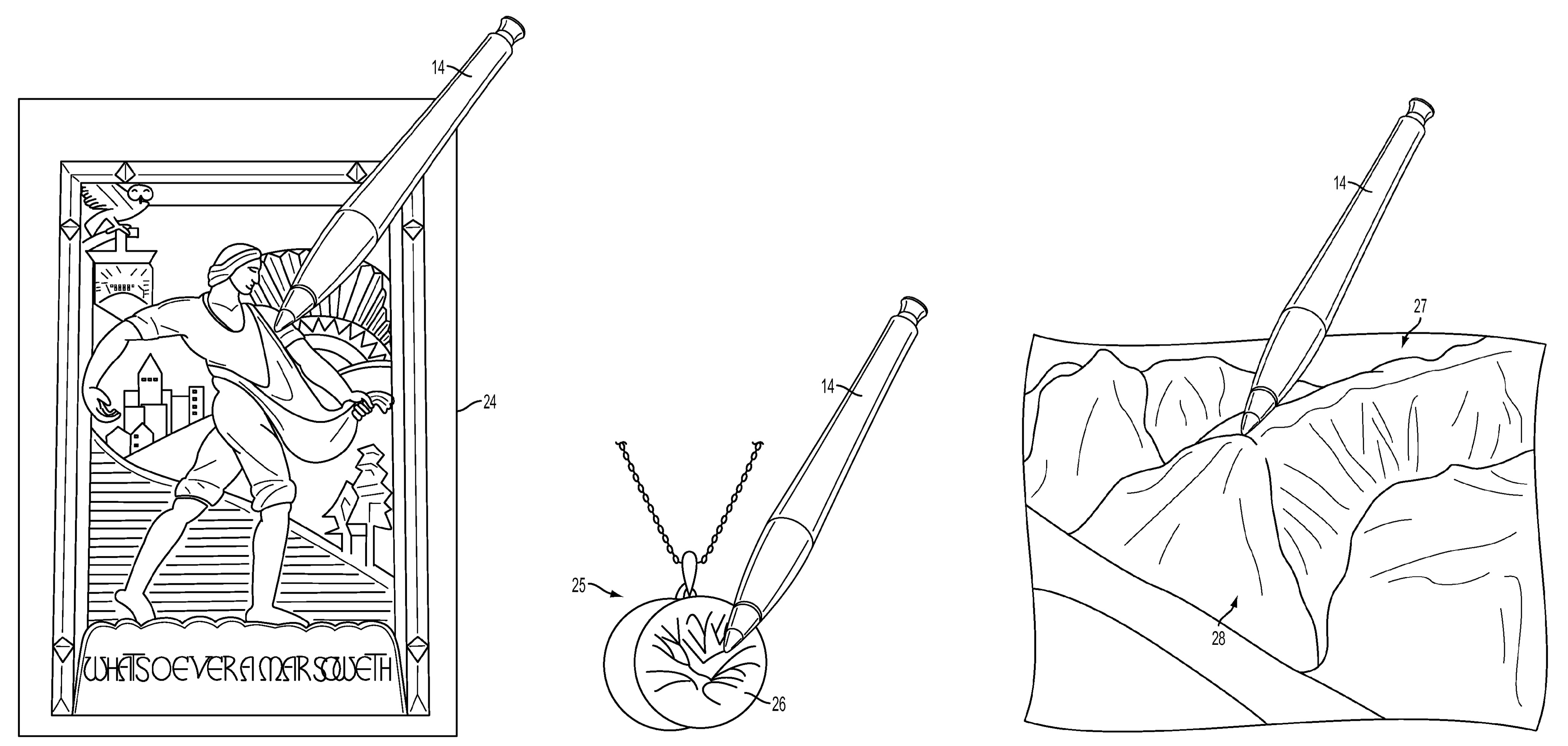 Apple texture sensing stylus patent drawing 003