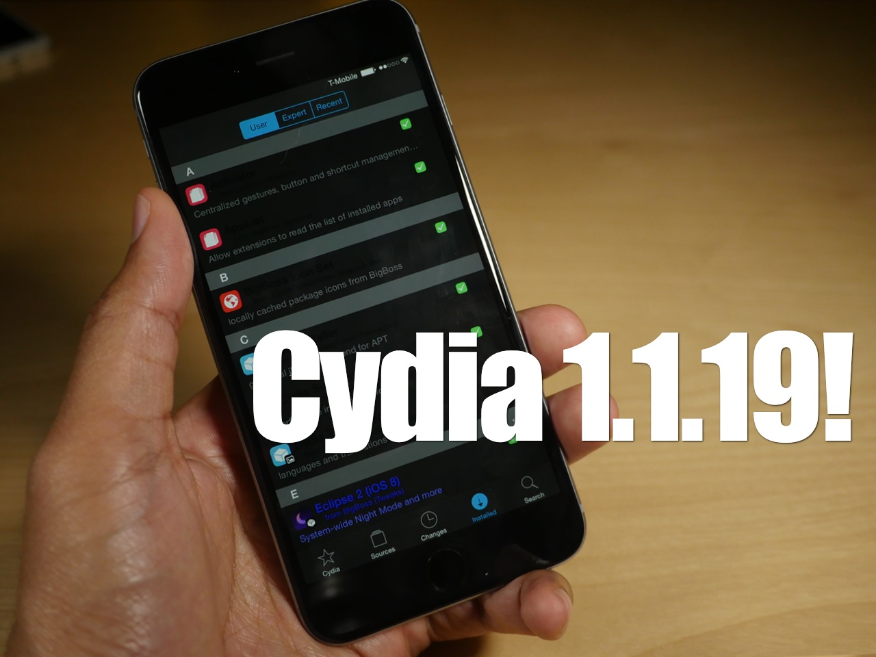 Cydia 1.1.19 Eclipse 2
