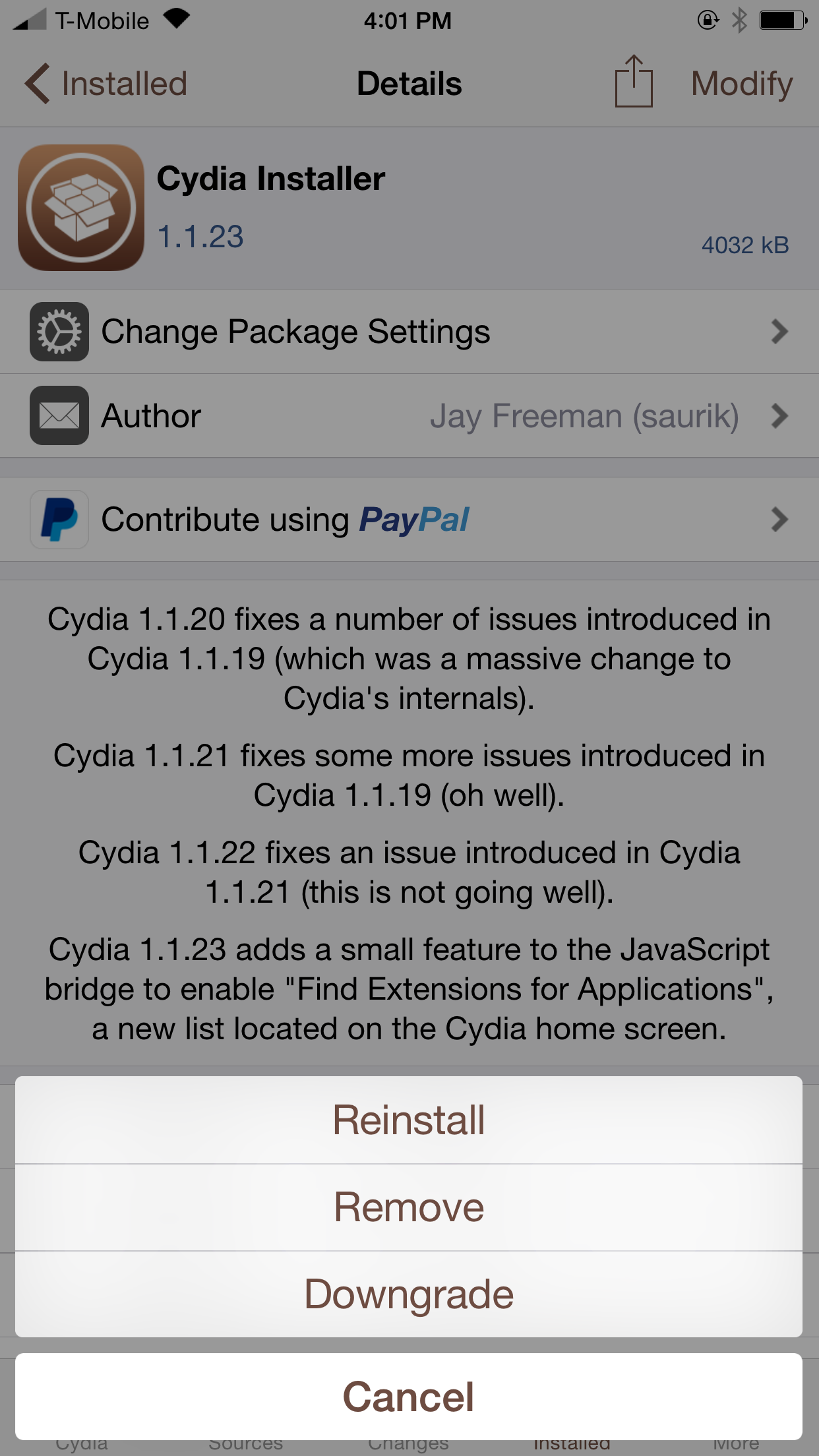 Cydia Downgrade