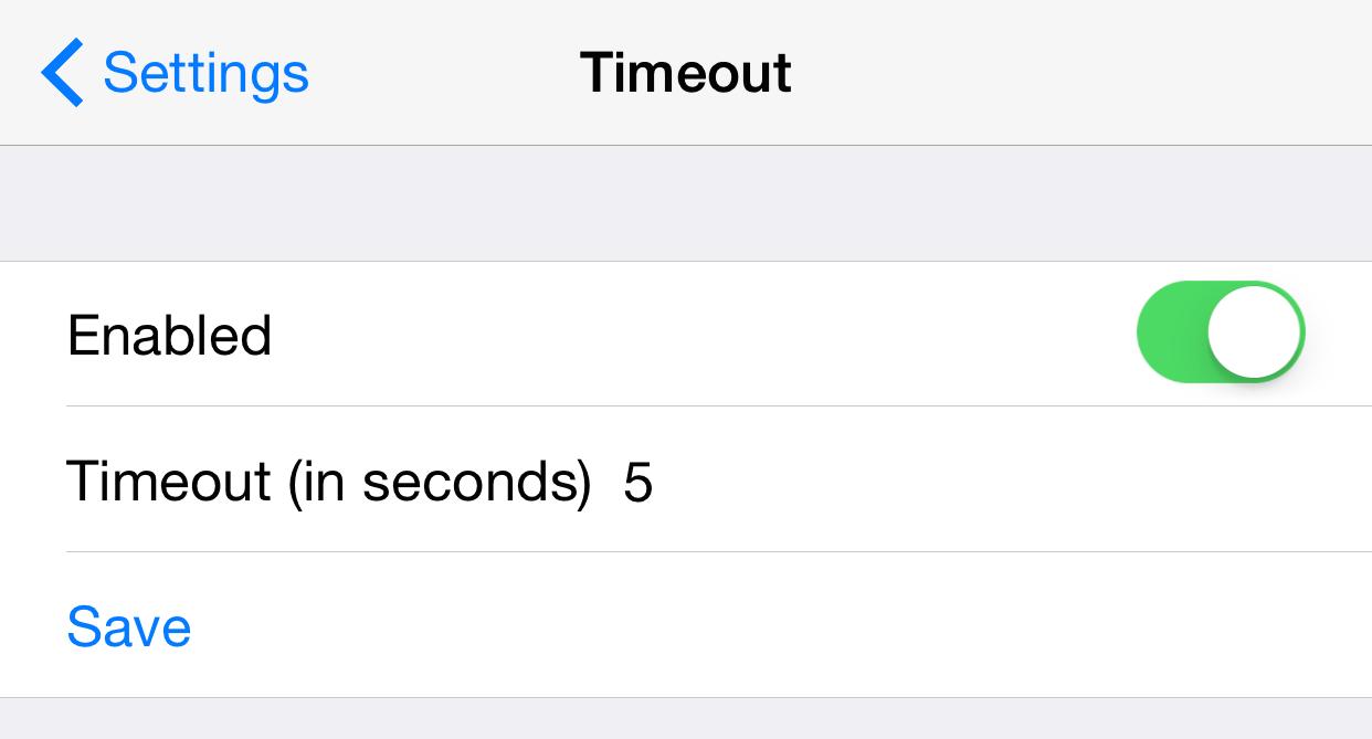 Cydia Timeout