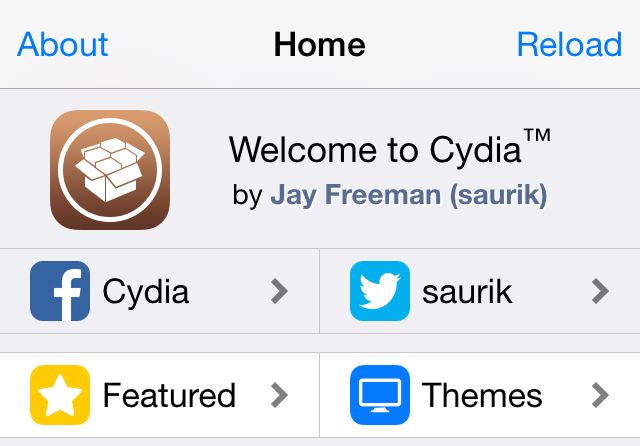 Cydia no status bar