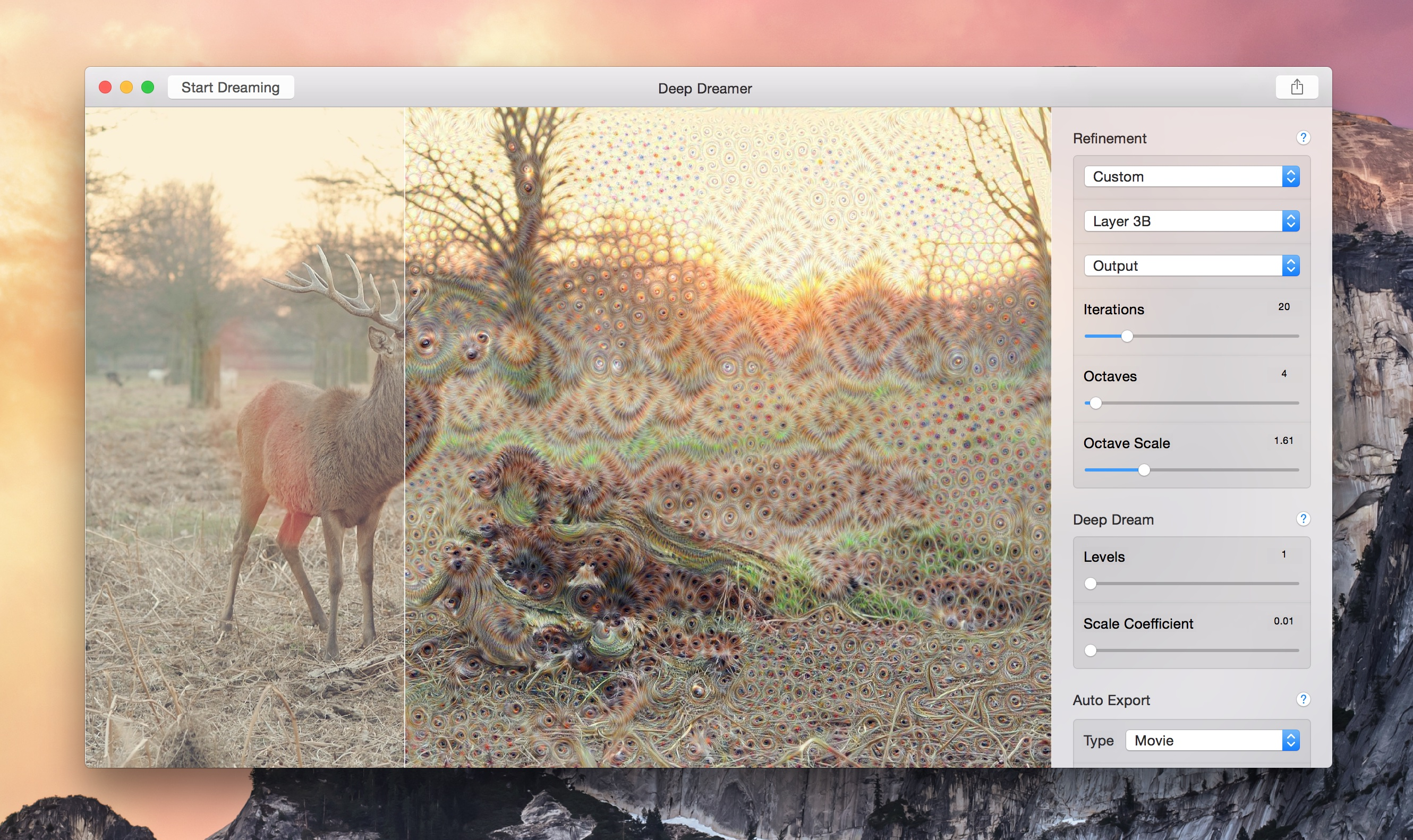 Deep Dreamer for OS X Mac screenshot 002