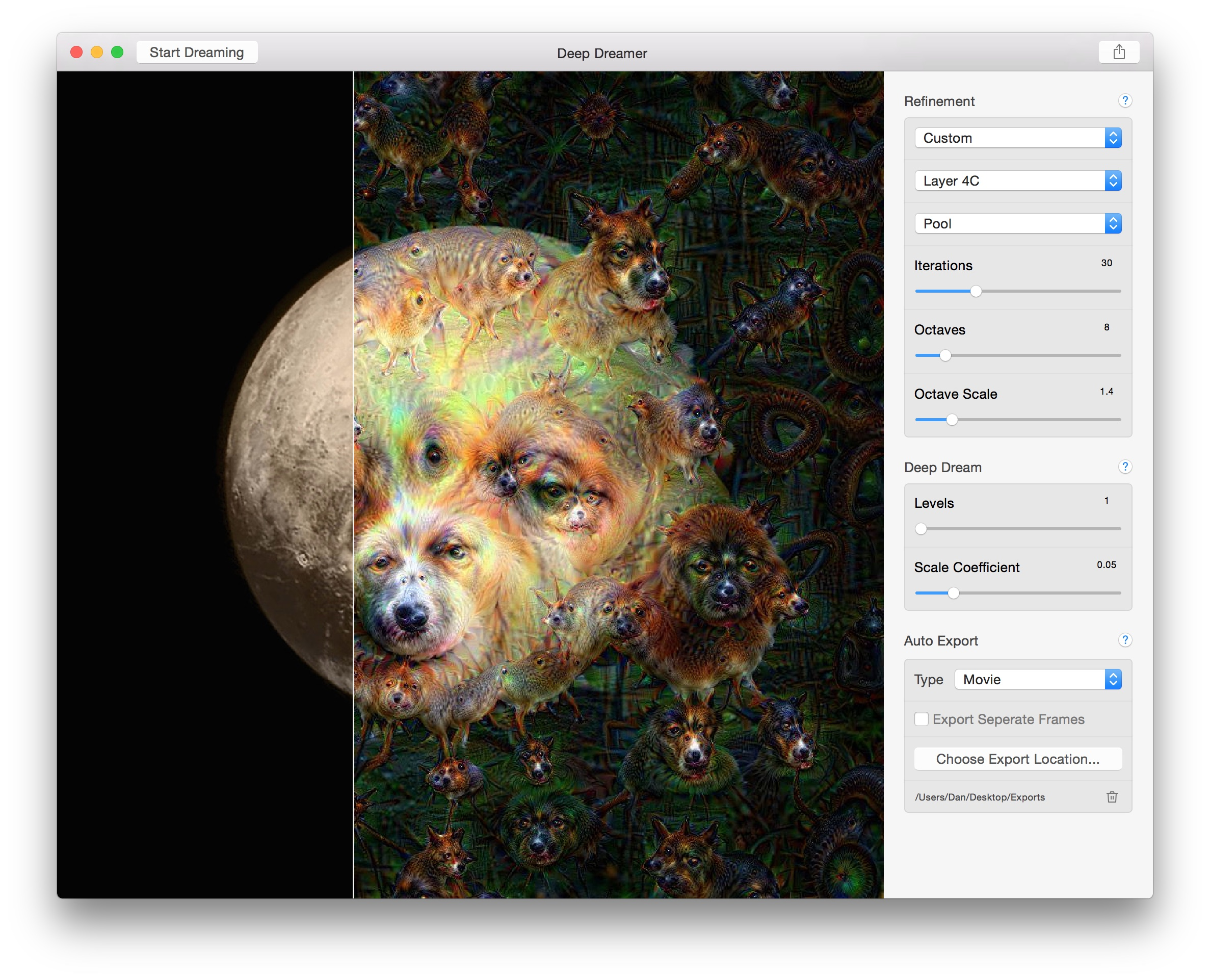 Deep Dreamer for OS X Mac screenshot 003