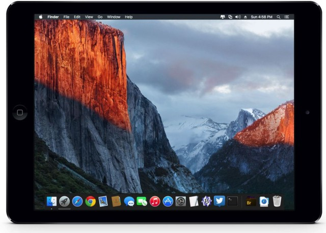 El Capitan on iPad