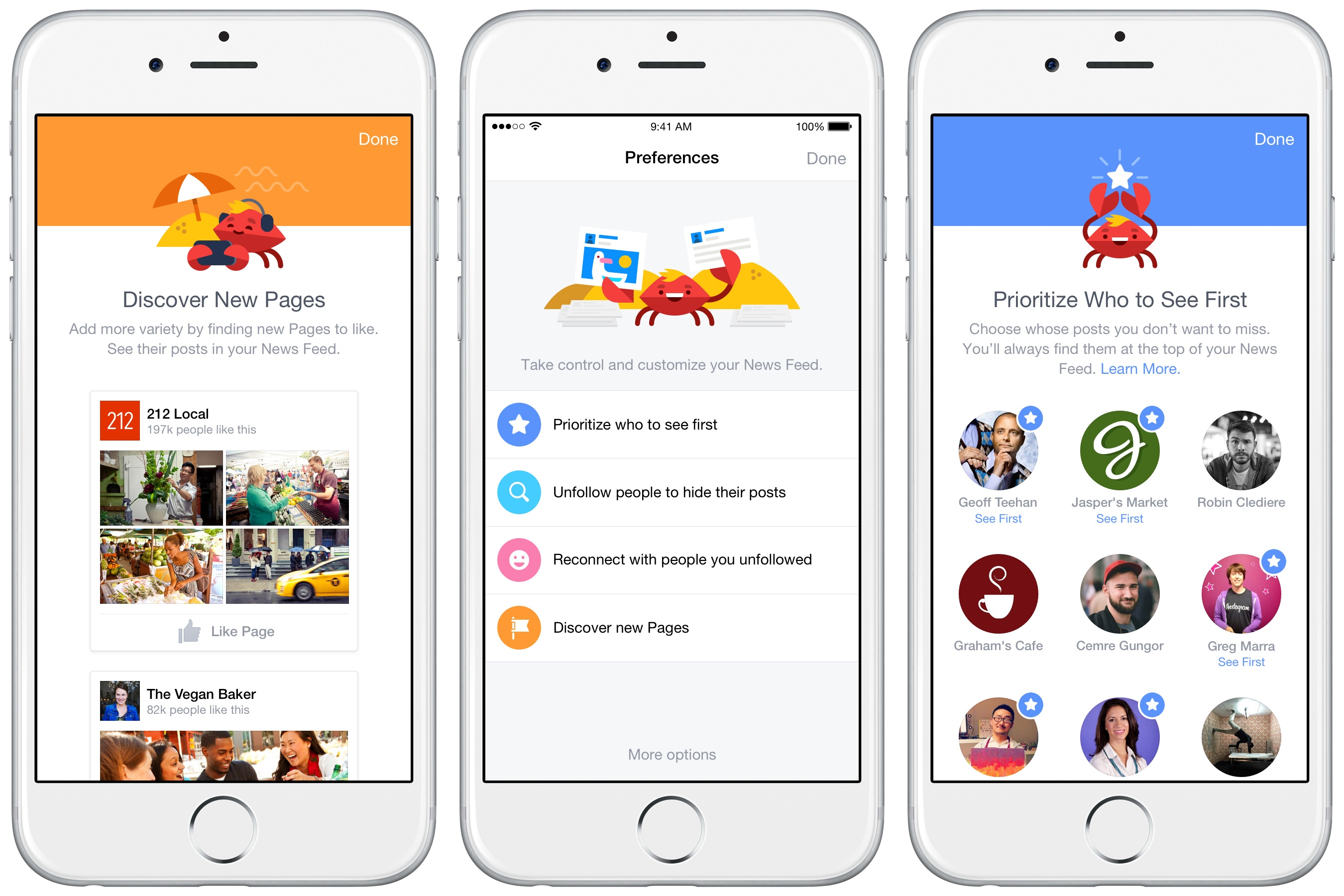 Captura de pantalla de Facebook News Feed para iPhone 001