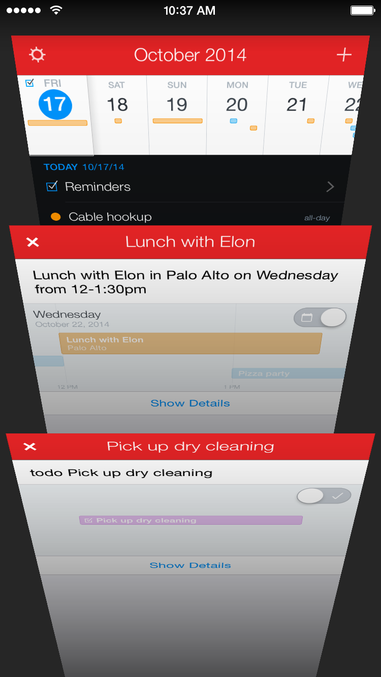 Fantastical 2.4 for iPhone New Event