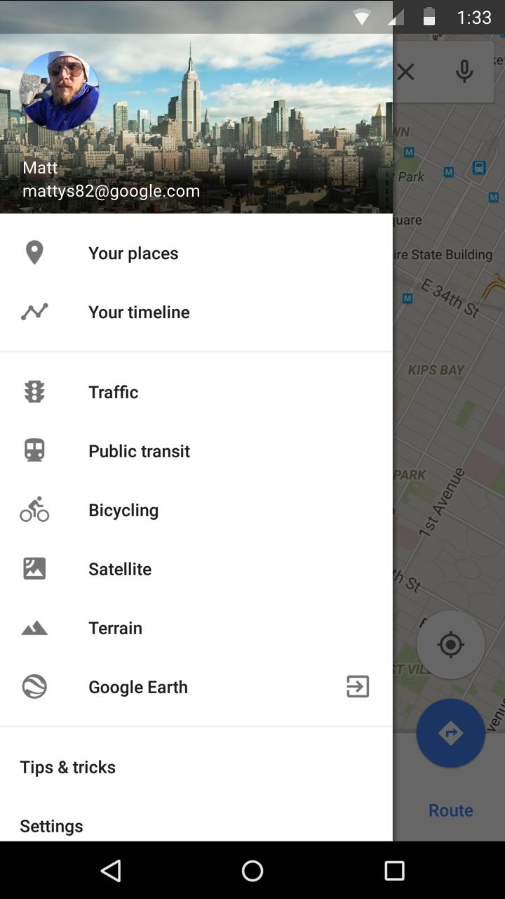 Captura de pantalla 001 de Google Maps Your Timeline para Android