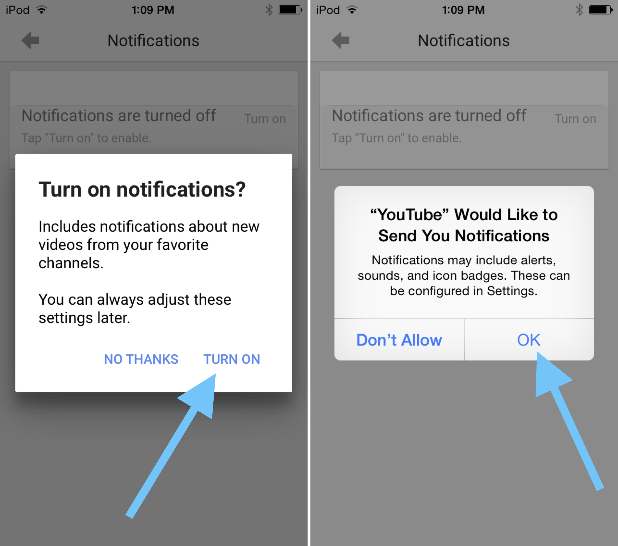 How to enable YouTube Notifications 3