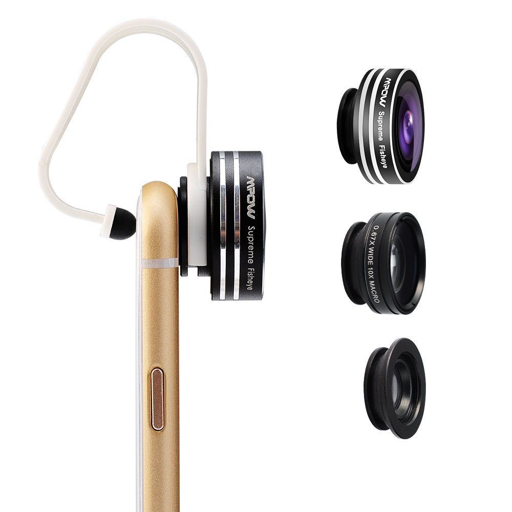 Mpow 3 in 1 Clip-On iPhone lens kit