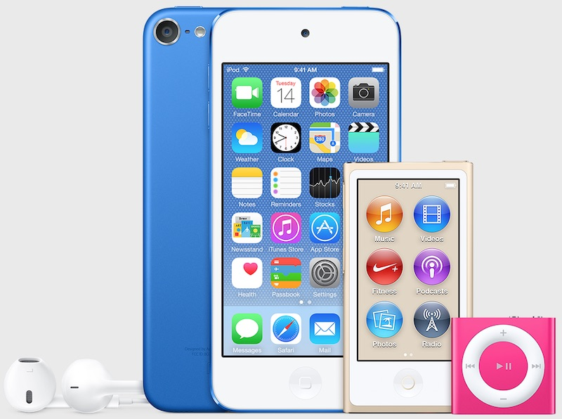 New iPod colors mockup