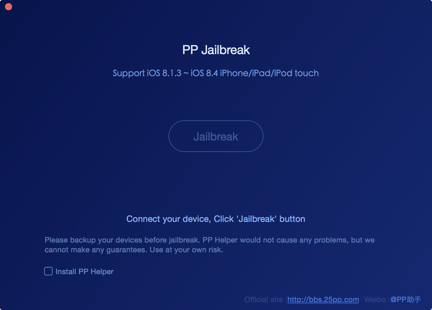 PP jailbreak Mac iOS 8.4