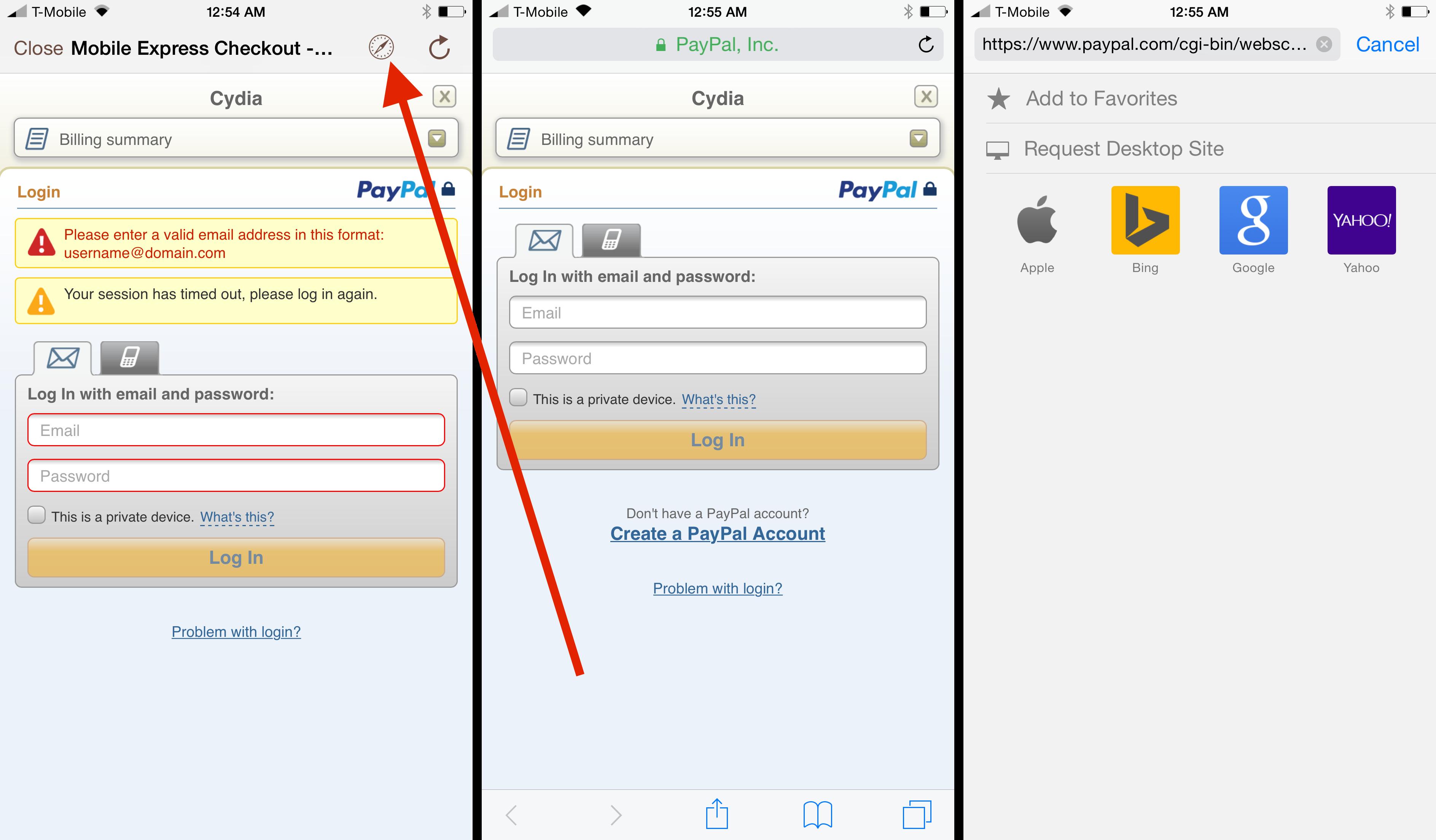 PayPal Cydia 2FA