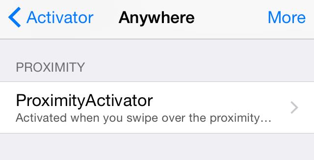 ProximityActivator Preferences