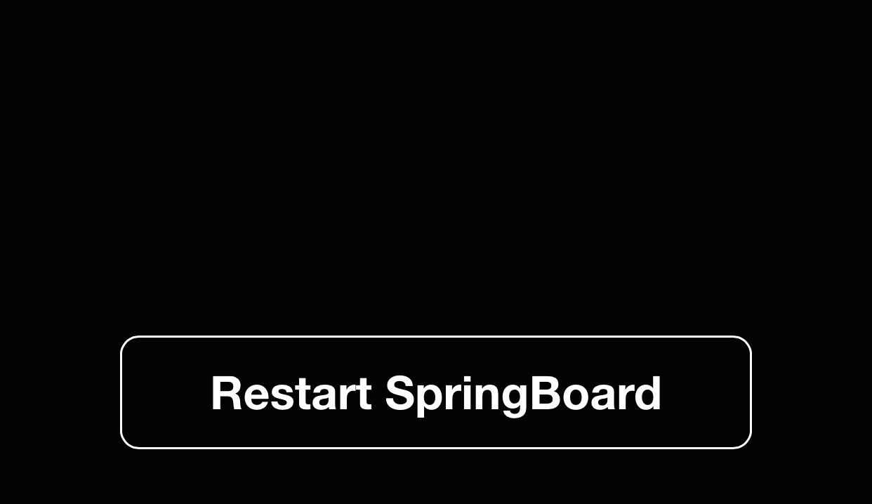 Restart SpringBoard