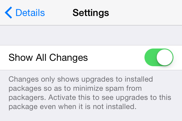 Show All Changes Cydia