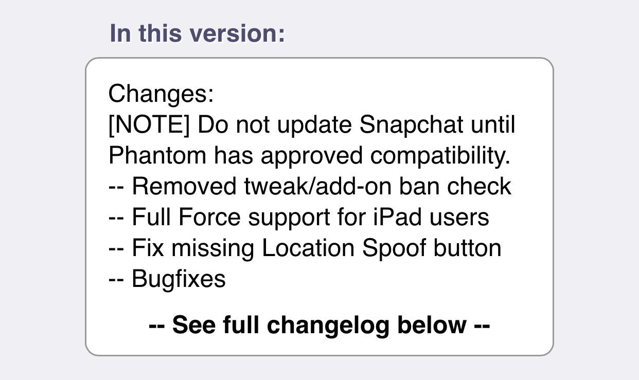 Snapchat Phantom lock out 4.3.2