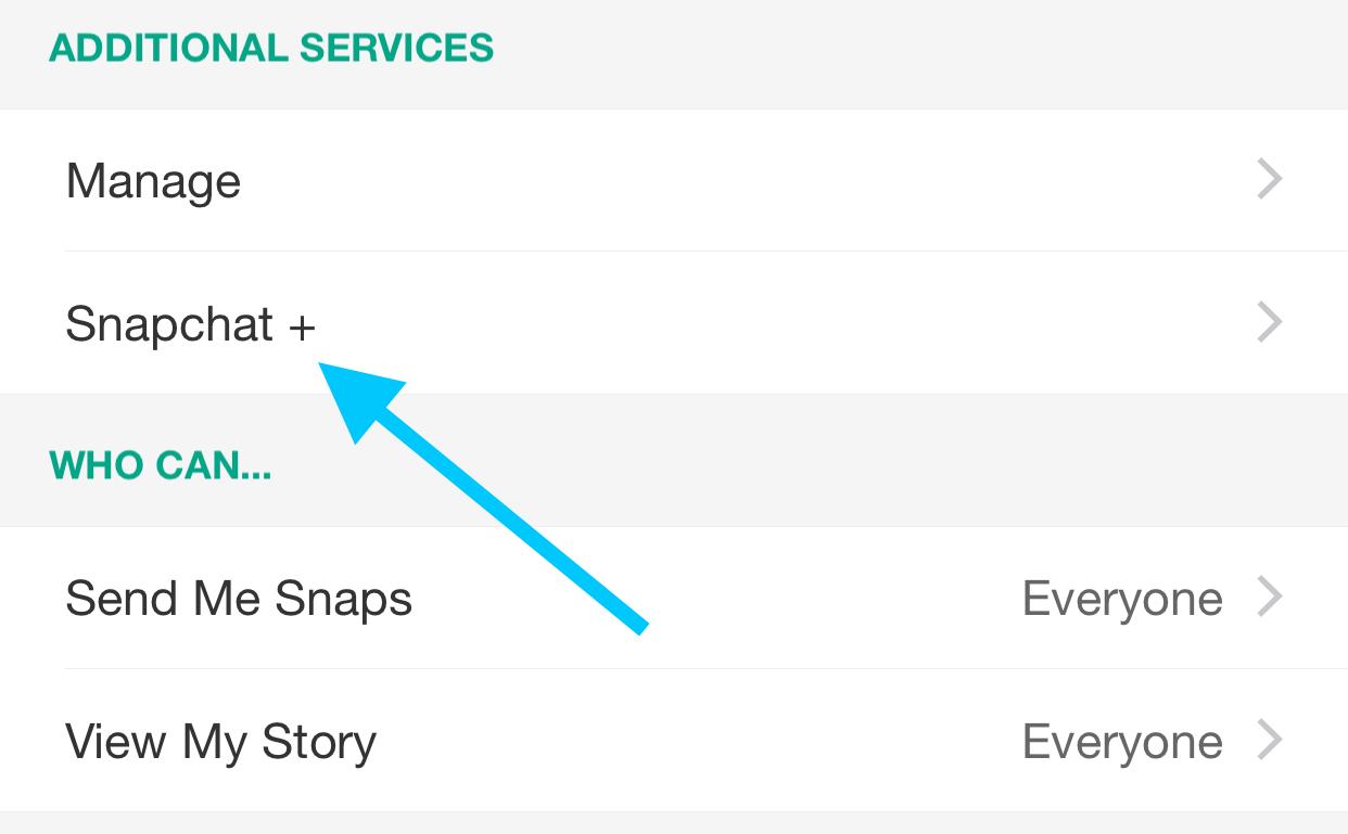 Snapchat+ Settings