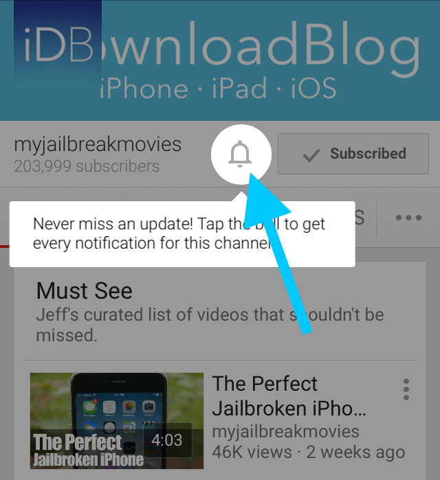 Subscribe YouTube Notifications iDownloadBlog