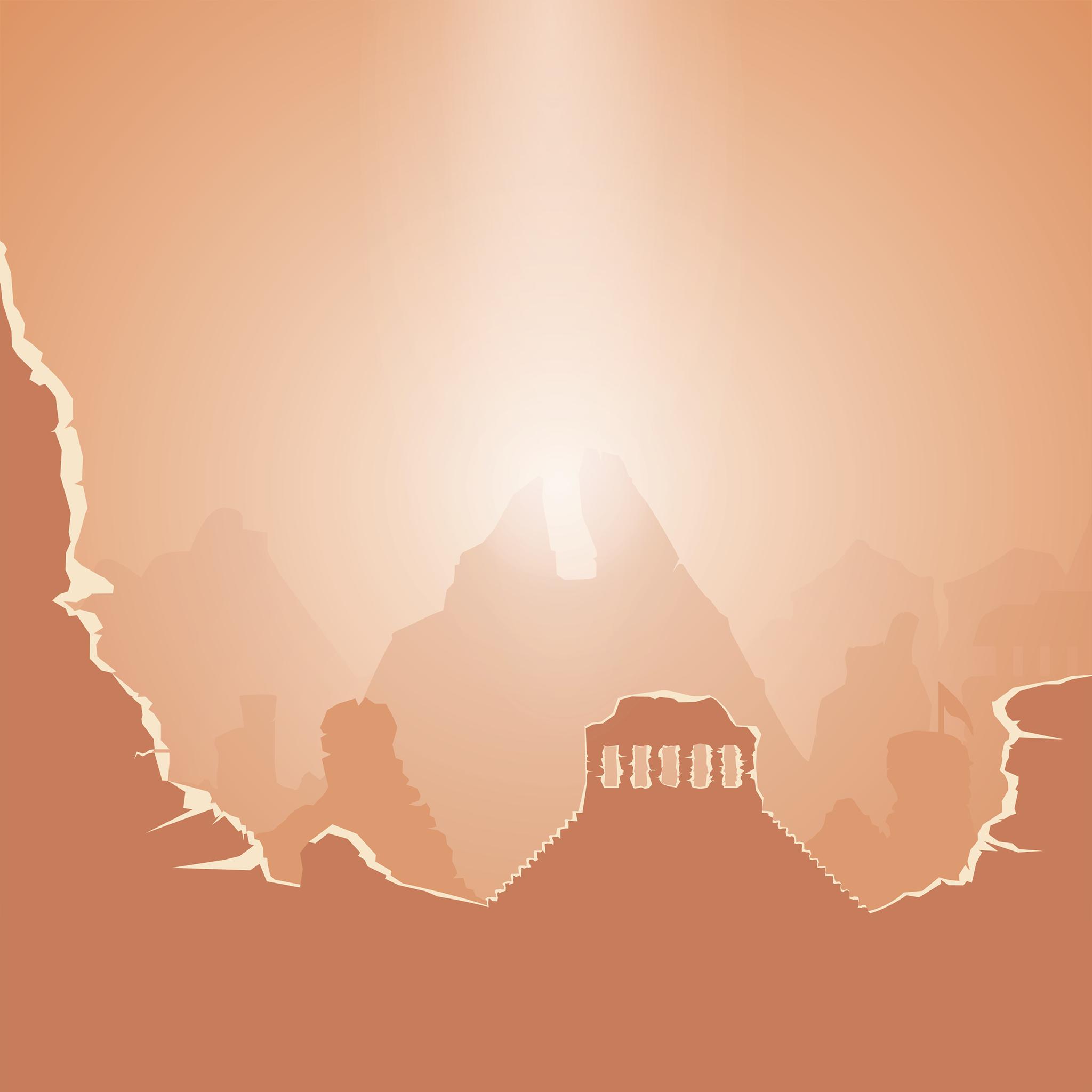 Temple Cartoon iPad Wallpaper