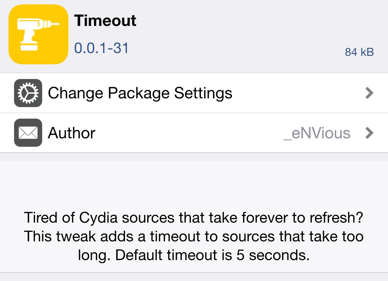 Timeout Cydia Beta Repo