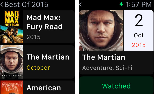 TodoMovies 4 for iOS Apple Watch screenshot 001
