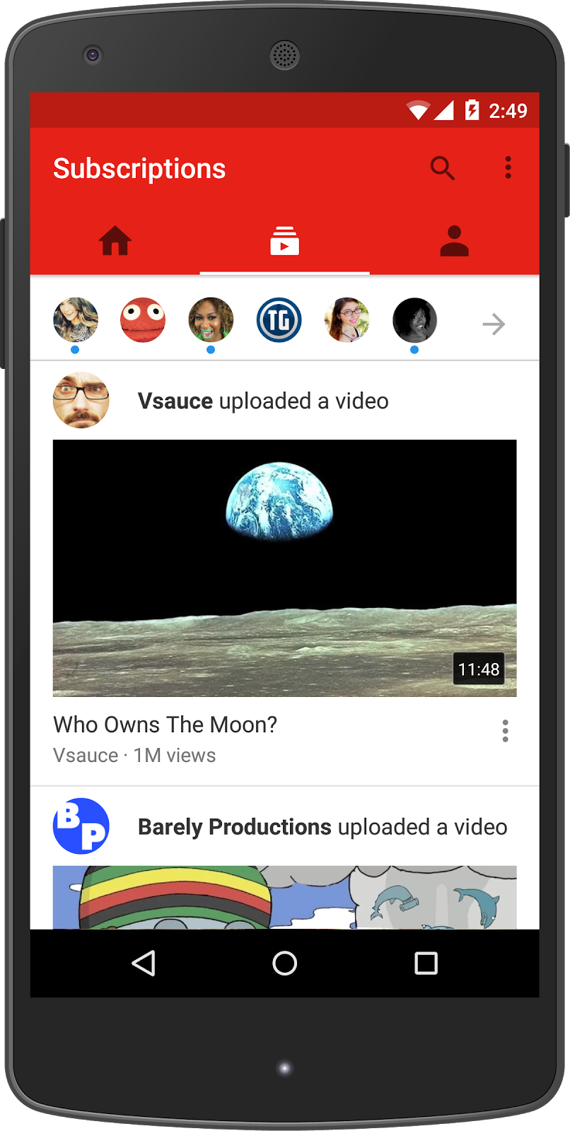 YouTube redesign Subscriptions Android screenshot 001