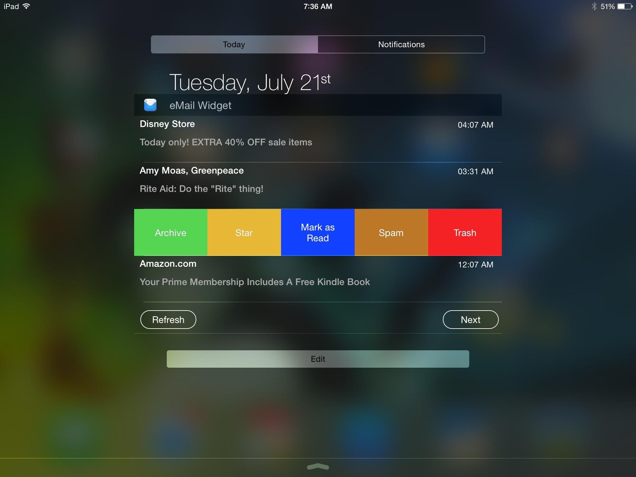 eMail Widget 3