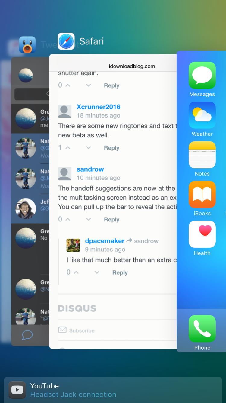 iOS 9 beta 4 Handoff 001