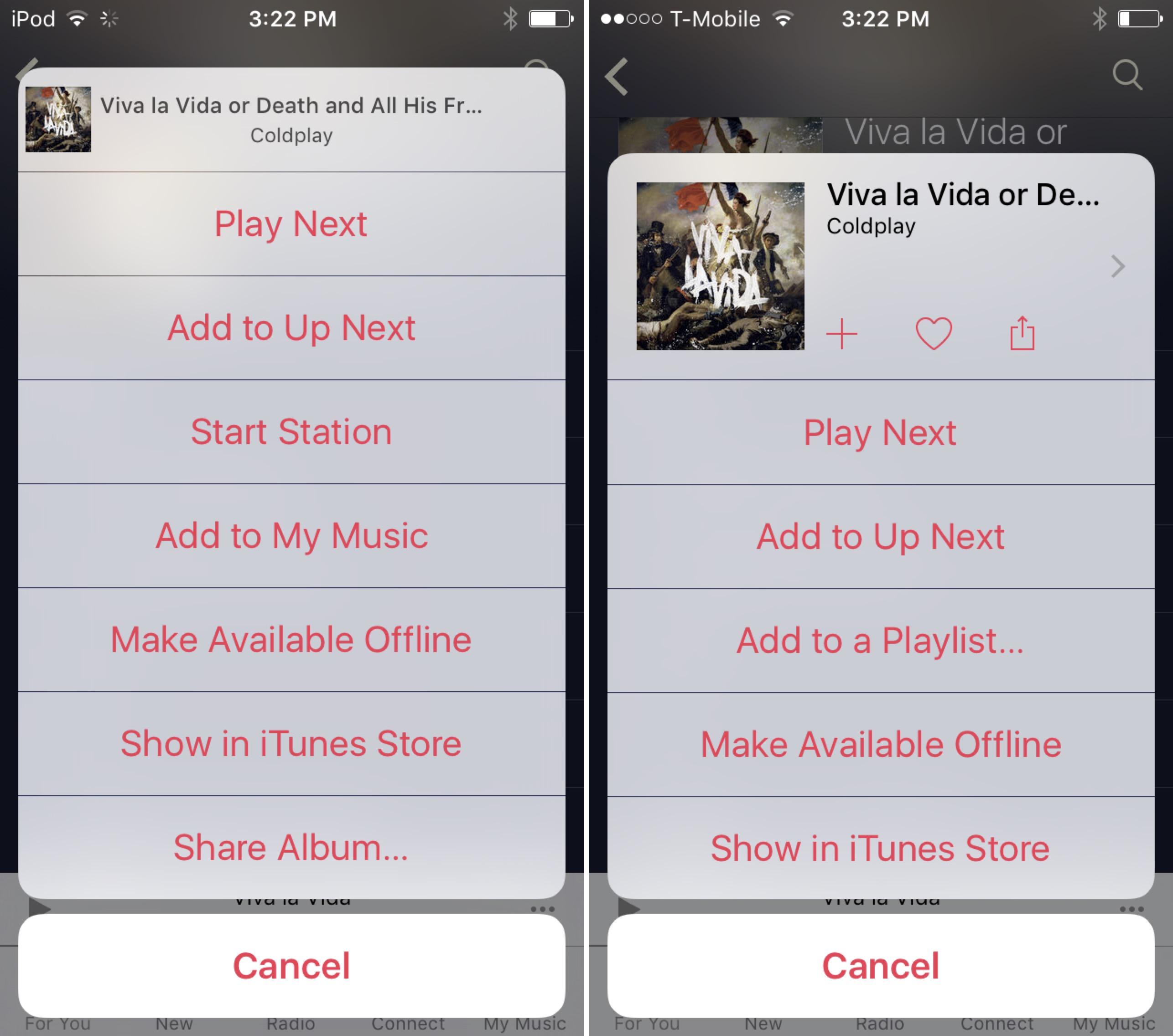 iOS 9 beta 4 Music simplified elipses 002