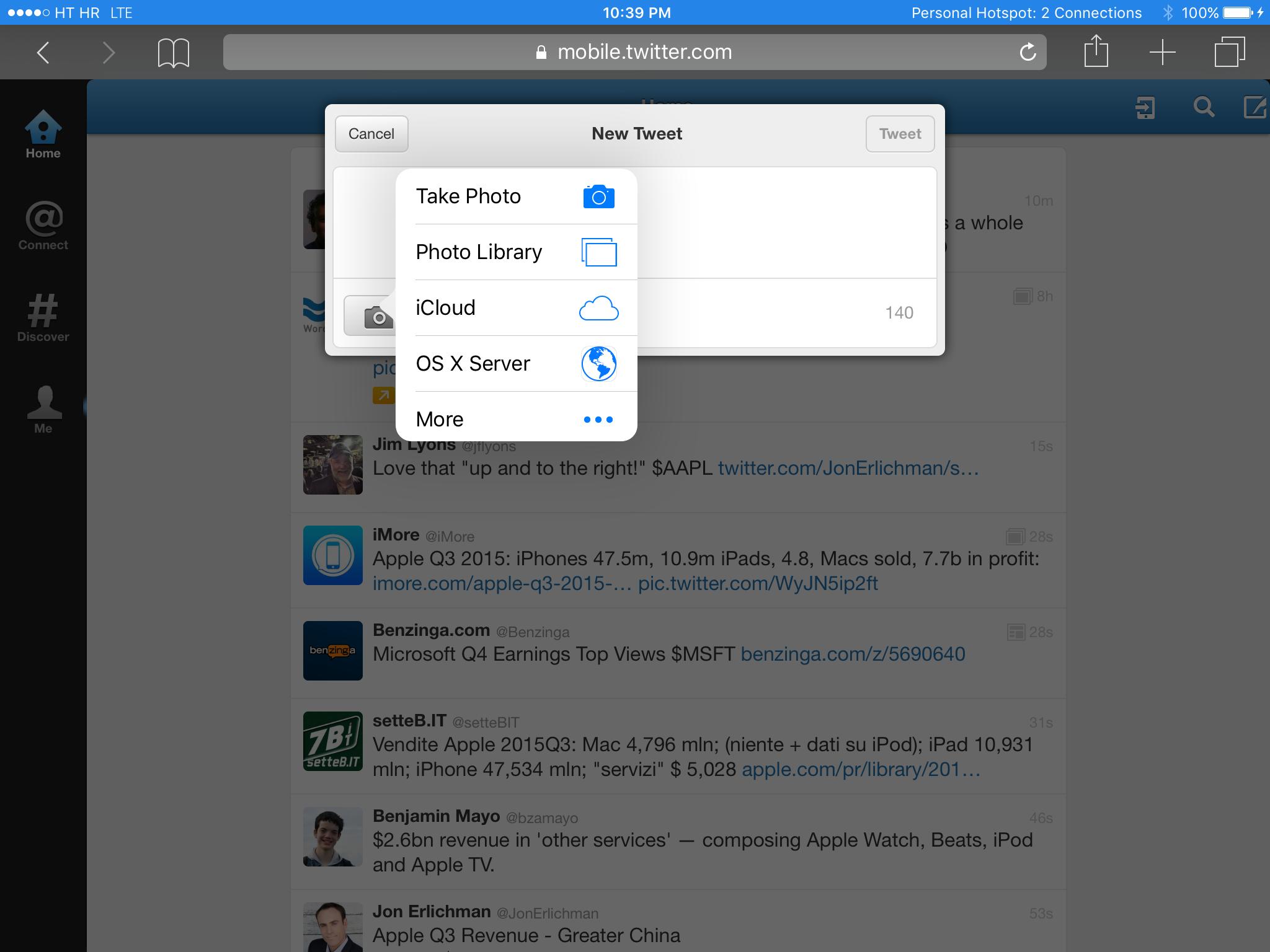 iOS 9 beta 4 Safari photo picker