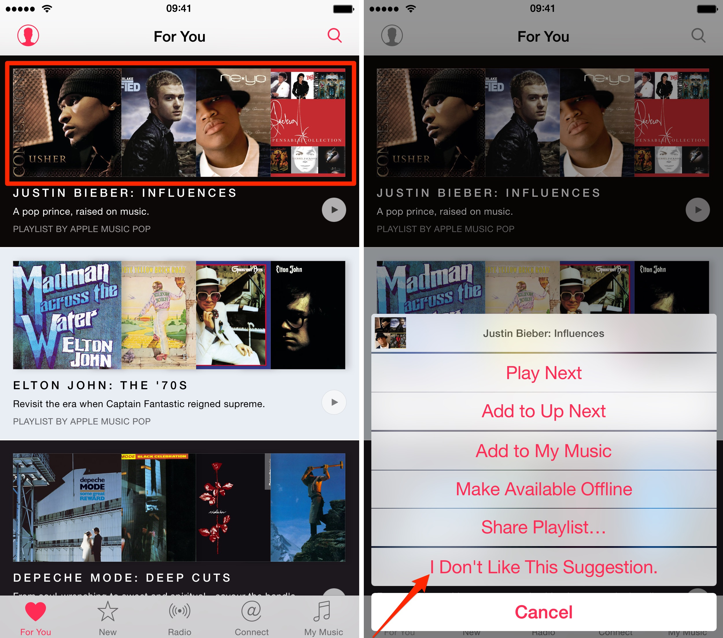iOS_8_4_Music_how_to_For_You_recommendations_iPhone_screenshot_001