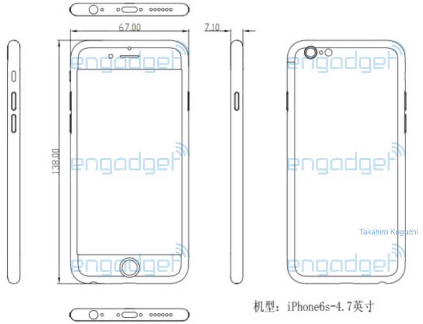 iPhone 6s schematic Engadget Japan 001