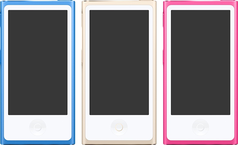 iPod nano new colors iTunes graphics