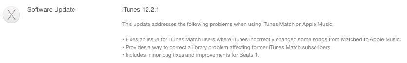 iTunes 12.2.1 update prompt