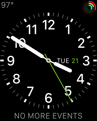 watchOS beta 4 colored Activity complication
