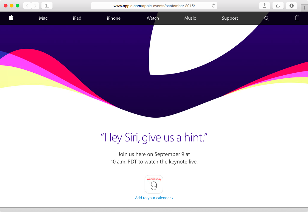 Apple September 2015 event live stream